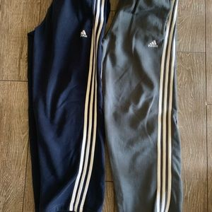 adidas Bottoms - Boys navy and grey sweats
